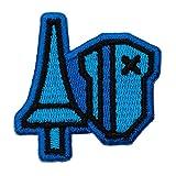 モンスターハンターライズ 2way刺繍ワッペン<ランス> 【オフィシャルライセンス商品】 グラフト ゲーミングライフ GGL040 ブルー