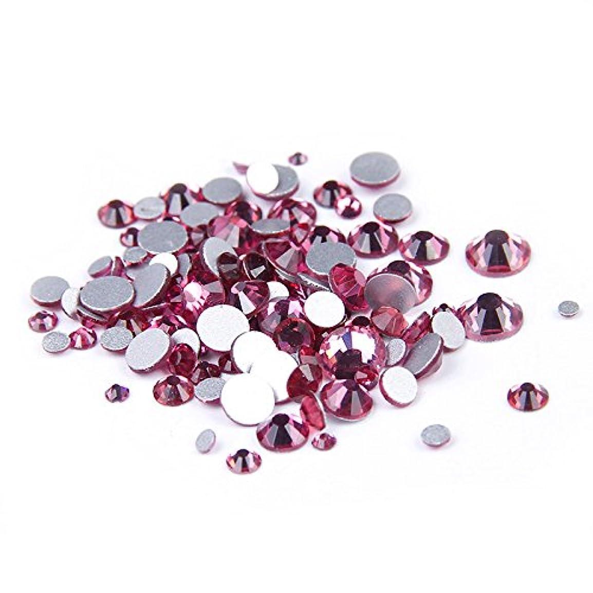 Nizi ジュエリー ブランド ローズ ラインストーン は ガラスの材質 ネイル使用 型番ss3-ss34 (混合サイズ 1000pcs)