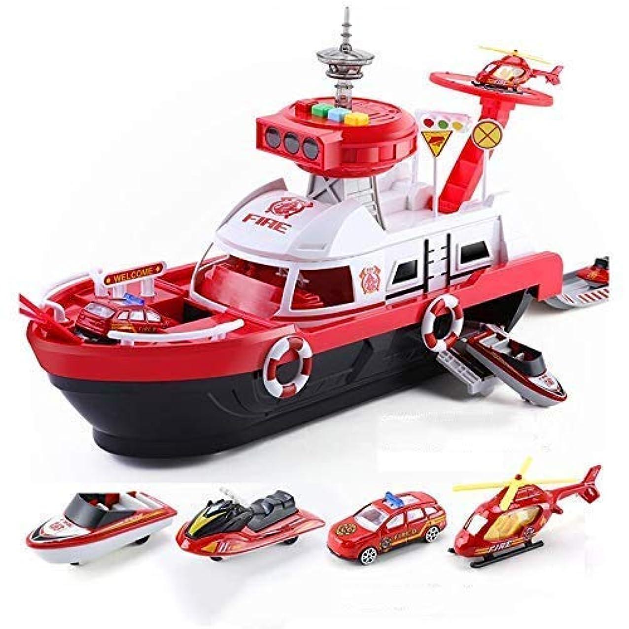 おもてなし重要満員子供のおもちゃシミュレーショントラック慣性ボート diecasts おもちゃ車音楽ストーリーライトおもちゃ船モデルおもちゃ駐車場男の子おもちゃ