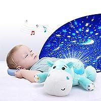 DREAMER.U 赤ちゃんの睡眠のための音楽児動物ぬいぐるみマジカルドリームスターリースタープロジェクションランプライト人形おもちゃプロジェクター (象)