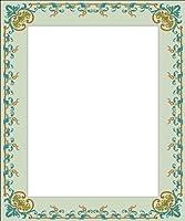 画像matting-green Vine & leaves-etchedビニールStained Glass Film , Static Clingフォトフレームデカール 03.5 in x 05 in グリーン