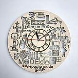 Depeche Mode デペッシュ・モード木製掛け時計ー完璧で美しく作られたー現代アートで自宅を飾ろうー彼と彼女にユニークなギフトーサイズ12インチ(30 �)