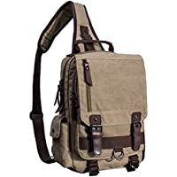Mygreen 13 Inch Laptop Sling Backpack Fashion Vintage Crossbody Chest Bag Shoulder Bags