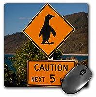 3droseニュージーランド、South Islandトラフィックサイン保護Penguins–マウスパッド
