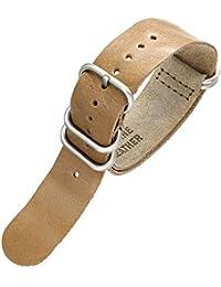 EMPIRE Oiled Italian Leather ZULU オイルド イタリアンレザー ズールー 時計 ベルト ストーン 22mm