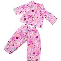 ノーブランド品  かわいい パジャマ  寝間着  服装  18インチアメリカンガールドール用 5種類選べる - 04