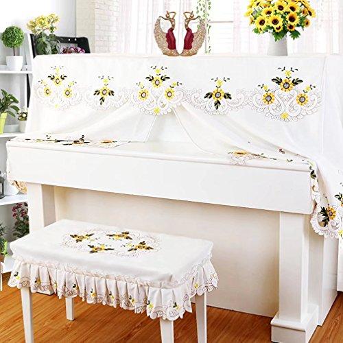 ピアノカバー アップライト 防塵カバー 花 向日葵 可愛い 高級 ピアノ カバー 高級 上品 厚手 ヨーロッパ風 人気 直立型 ピアノカバー おしゃれ HIMENO