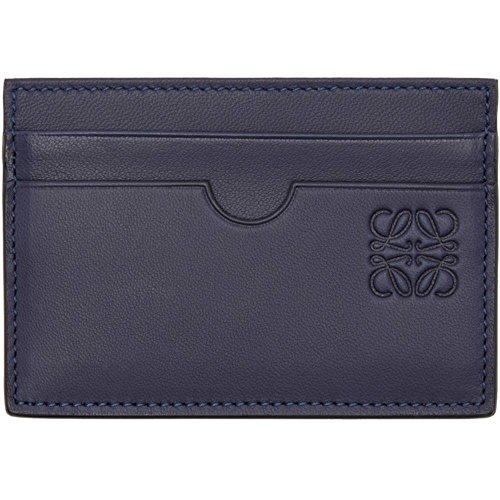 (ロエベ) Loewe レディース カードケース・名刺入れ Navy Leather Card Holder [並行輸入品]