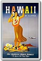 Visit Hawaii (By Clipper) - Vintage Travel Fridge Magnet - ?????????