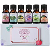 Essential Oils Set - Venus Visage 100% Pure Therapeutic Grade Aromatherapy Oils Gift Set for Diffuser (6 x 10ml) Lavender, Rose, Sweet Orange, Jasmine, Peppermint, Lemon