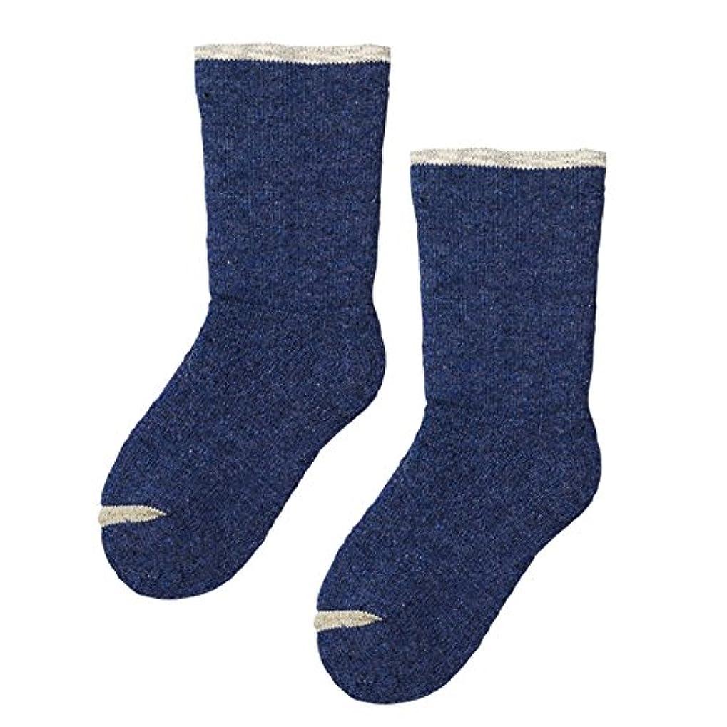 個人的な卒業記念アルバム助けて砂山靴下 Carelance(ケアランス) お風呂上りの靴下 二重編み 8590CA-70 ブルー