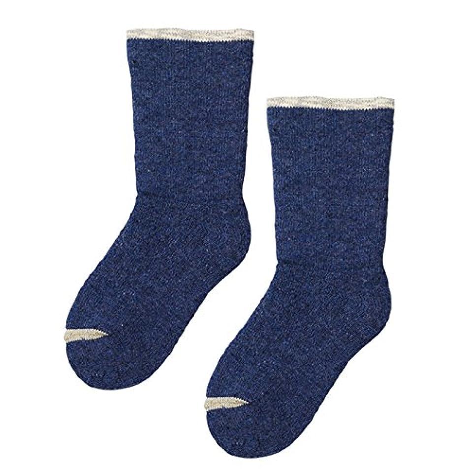 注入アスレチックる砂山靴下 Carelance(ケアランス) お風呂上りの靴下 二重編み 8590CA-70 ブルー