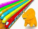 トレイン、恐竜のダイノと一緒に??色を学ぼう