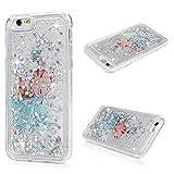 Best 6SのためのiPhone 6友人のためのケース - iPhone 6ケース、iPhone 6sケース、流れる液体3d Glitter TPUシリコンQuicksandケースフローティング移動Bling Heartsキラキラ印刷クリア耐衝撃保護カバーのガールズ、レディースby YOKIRINFish Cat Review