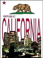 【ロサンゼルス カリフォルニア】 白マット紙(フレーム無し)A4サイズ