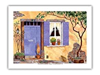 プロヴァンスの魔法 - フランス - オリジナルの水彩画からのもの によって作成された ロビン アルトマン - プレミアム290gsmジークレーアートプリント - 30.5cm x 41cm