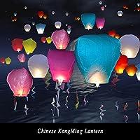 Chineses用紙Lamps Kite Ligh装飾10pcs Wishing Lanterns forアウトドアバルーンUFO Assortedカラー