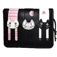 Nawoshow Women Cute Cat Wallet Coin Purse Bifold Wallet Clutch Bag