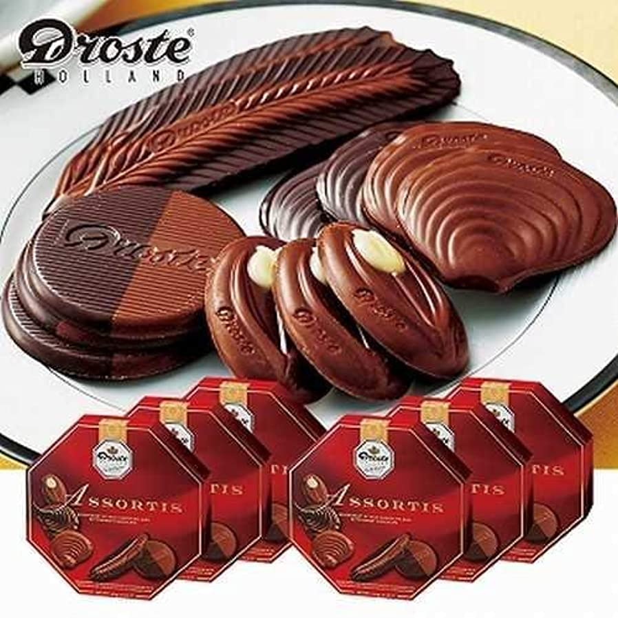 ファンネルウェブスパイダー防ぐ委員長ドロステ(Droste) アソートチョコレート 6箱セット【オランダ 海外土産 輸入食品 スイーツ】