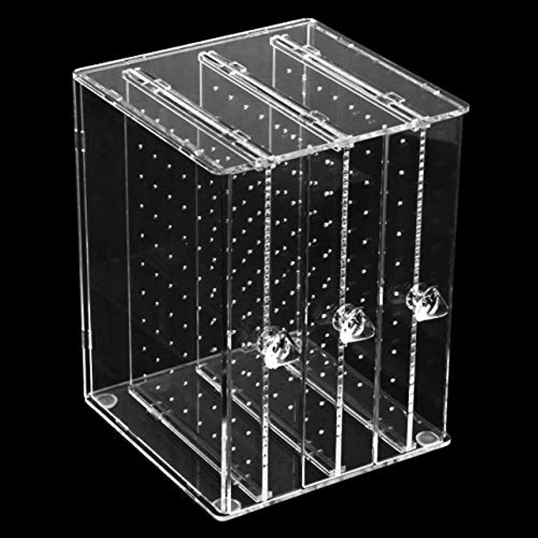 人工市の花旋律的DeeploveUU 防塵透明アクリルC36ジュエリーイヤリング収納ホラーボックス女性ジュエリーイヤリングディスプレイスタンドラック