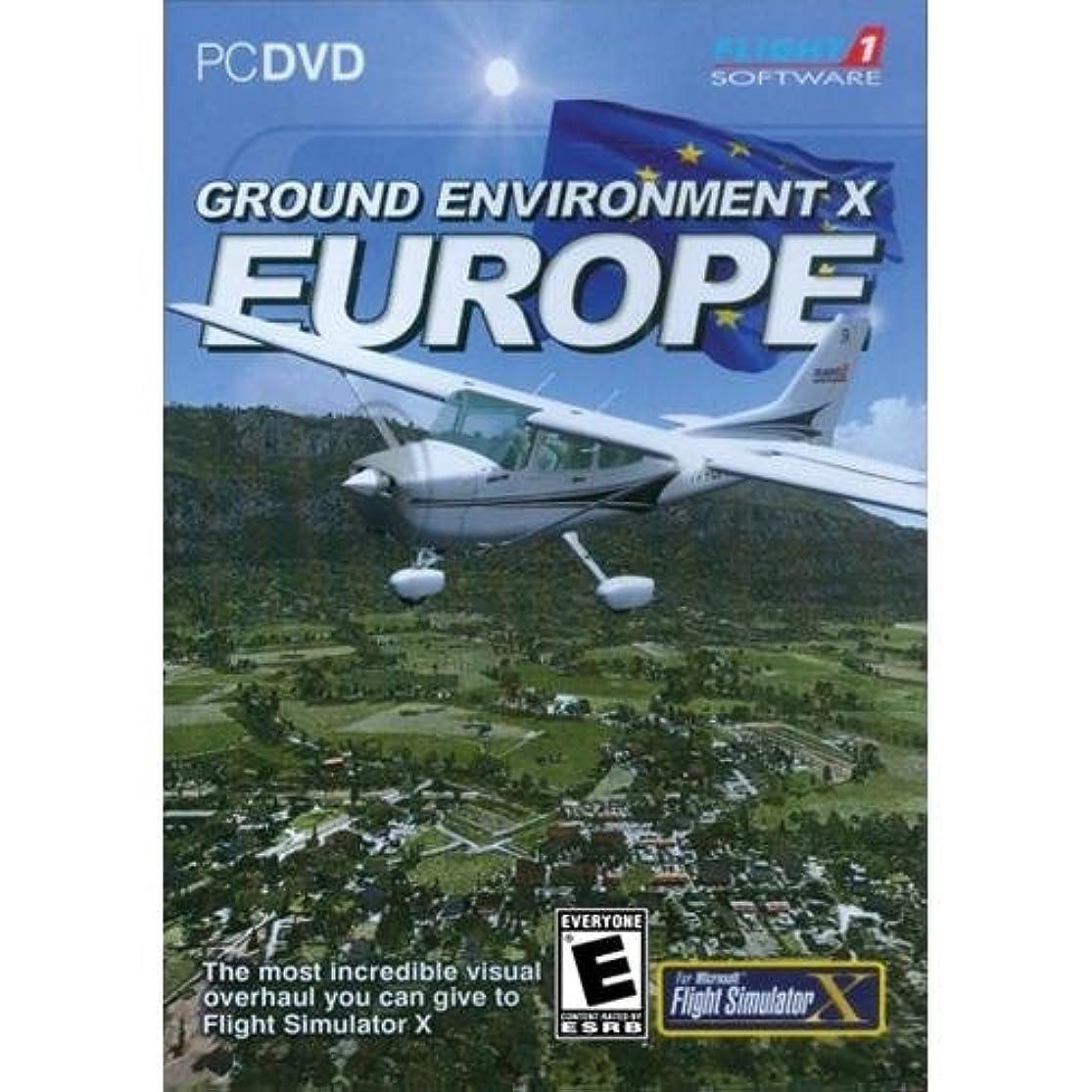 悪質な魅力的であることへのアピール汚染Ground Environment X Europe Add-on for Microsoft Flight Simulator X