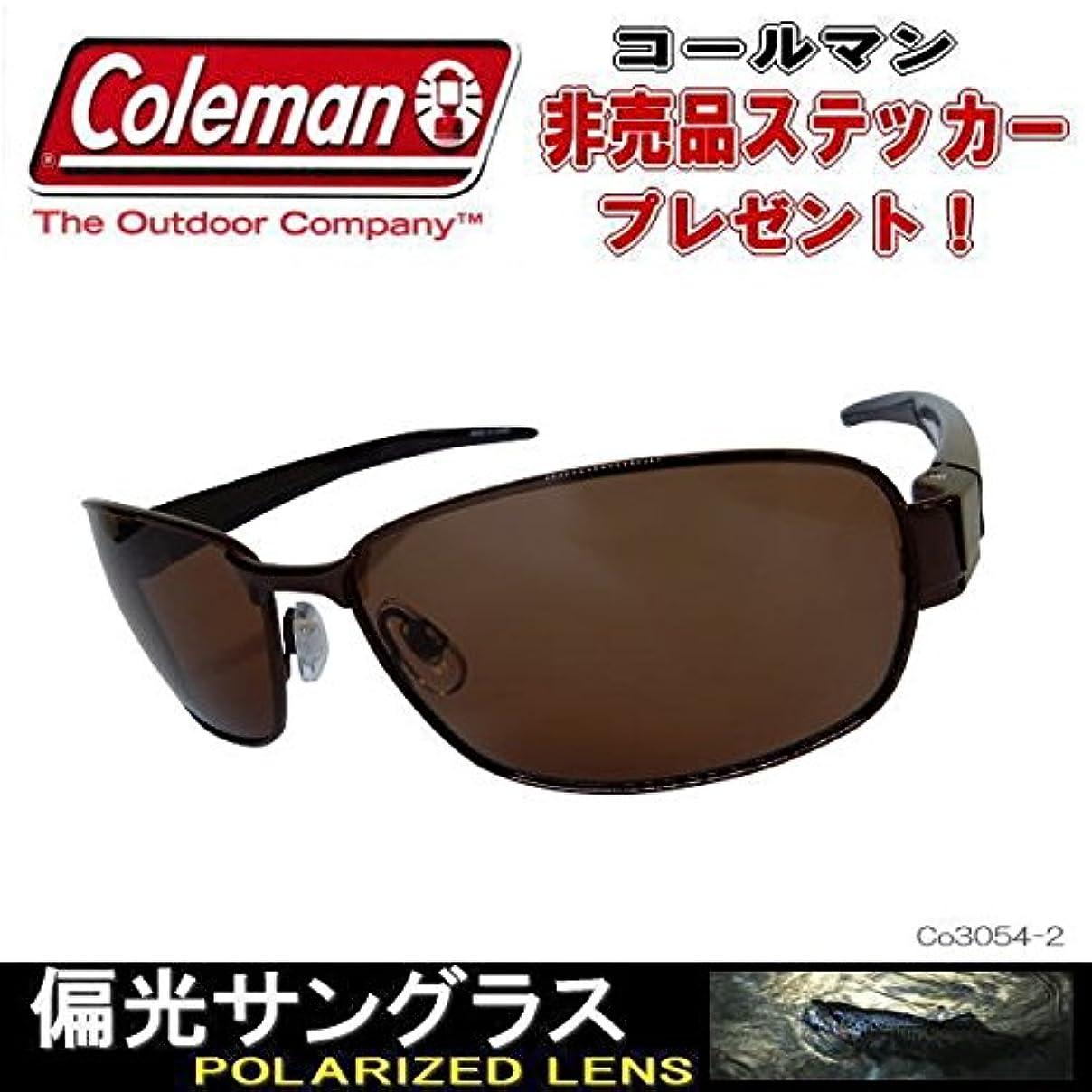 バスケットボール常習的グループColeman コールマン 偏光サングラス Co3054 ( 3054-1/SM 3054-2/BR)非売品ステッカー付
