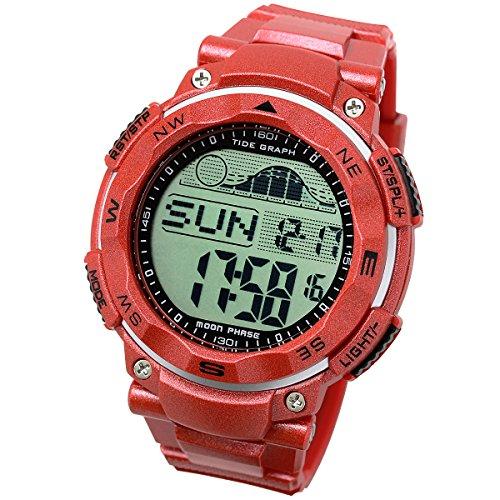 [LAD WEATHER] タイドグラフ腕時計 100m防水 ムーン データ ペーサー 月齢表示 釣り/サーフィン/ダイビング