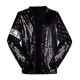 マイケル・ジャクソン コスプレ衣装 Billie Jean ジャケット 衣装 舞台服 演出服 トップス トップス ジャケット コート  大人と子供 男女兼用 コスプレ コスチューム Michael.Jackson 上着 + 手袋 (高さ:155〜165cm 重量:45-55kg)