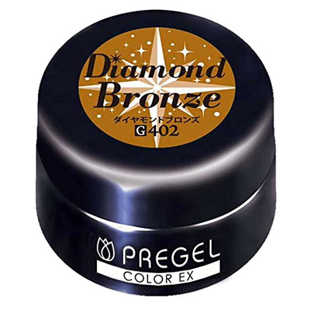 おんどり北へチラチラするPRE GEL カラーEX ダイヤモンドブロンズCE402 UV/LED対応 カラージェル