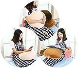 JEMA ジェマ 抱き枕 マシュマロ ラウンドクッション もちもちクッション もっちり なめらか 丸型 直径40cm 薄パープル 画像