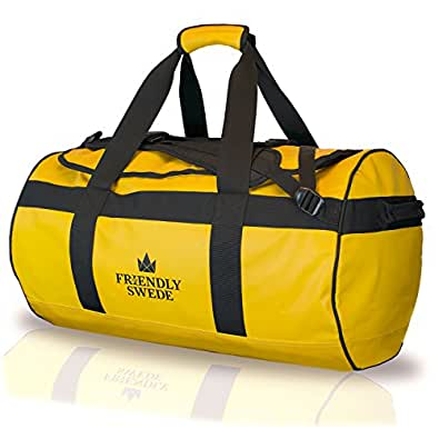 The Friendly Swede Duffel ボストンバッグ 2WAY ダッフルバッグ 耐水 防水 イエロー 60L