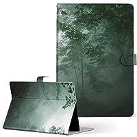igcase d-01J dtab Compact Huawei ファーウェイ タブレット 手帳型 タブレットケース タブレットカバー カバー レザー ケース 手帳タイプ フリップ ダイアリー 二つ折り 直接貼り付けタイプ 005872 写真・風景 写真 森 緑