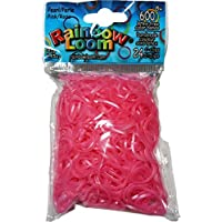 Rainbow Loom Pearloid Pink Rubber Bands with 24 C-Clips (600 Count) [並行輸入品]