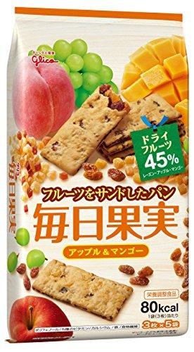 江崎グリコ 毎日果実 アップル&マンゴー 15枚×5個 栄養補助食品