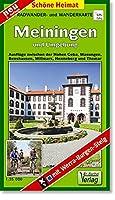 Wander- und Radwanderkarte Meiningen und Umgebung 1 : 35 000: Ausfluege zwischen der Hohen Geba, Wasungen, Benshausen, Willmars, Henneberg und Themar