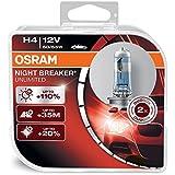OSRAM 64193NBU-HCB Night Breaker Unlimited H4, Halogen Headlamp, 12V Passenger Car, Duo Box, Set of 2