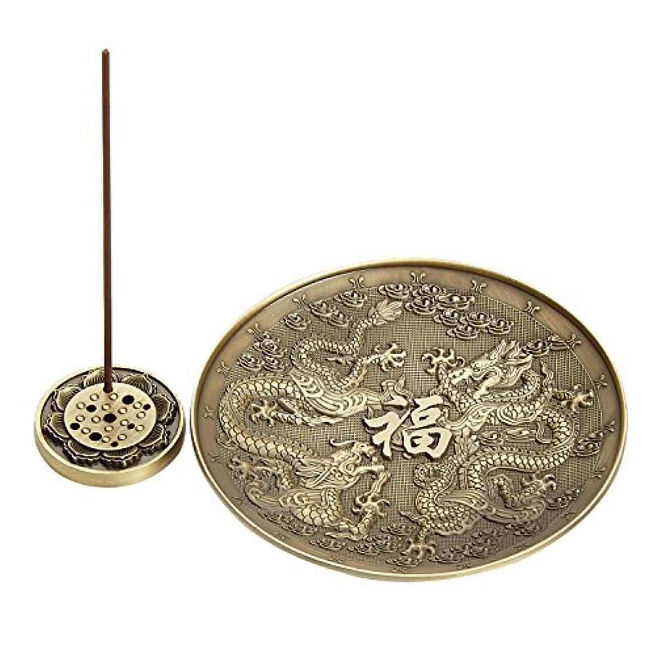 マイナス付属品クーポンUoonドラゴン香炉ホルダーのスティック、コイルIncense、Feng Shui Prodcut、ホームデコレーション UOON-DR001