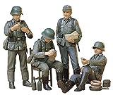 タミヤ 1/35 ミリタリーミニチュアシリーズ No.129 ドイツ歩兵 休息セット プラモデル 35129 画像