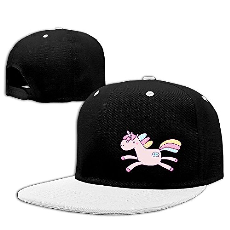 野球帽 ユニコーン アニマル柄 デザイン ハット 男女兼用 紫外線対策 日よけ 小顔効果 無地 Red