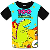 Kids Youth Happy 100th Day Of School 3D Printed Short Sleeve T-Shirt Tees