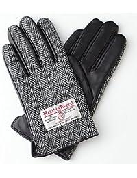 【ハリスツイード】HARRIS TWEED レディース スマホ対応 手袋 レザー AY-15AWGL-001