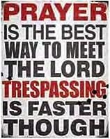 Prayer Tin Signs(ブリキ看板)並行輸入品