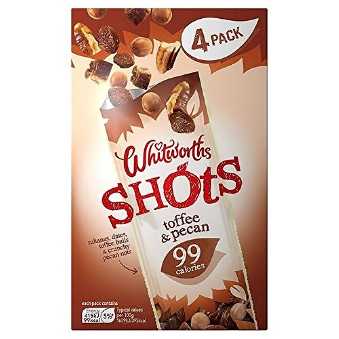 後継印をつけるさわやか(Whitworths) パックあたりのタフィーピーカンショットマルチパック4 (x6) - Whitworths Toffee Pecan Shot Multipack 4 per pack (Pack of 6) [...