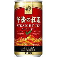 キリン 午後の紅茶 ストレートティー 185g缶 20本入×4 まとめ買い