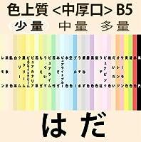 色上質(少量)B5<中厚口>[肌](50枚)