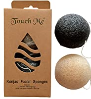 Premium Konjac Facial Sponges Set by Touch Me - - Great for Sensitive to Oily & Acne Prone Skin - Gentle Face Scrub, Cleanser and Exfoliation. Made with Natural Fibers by Touch Me