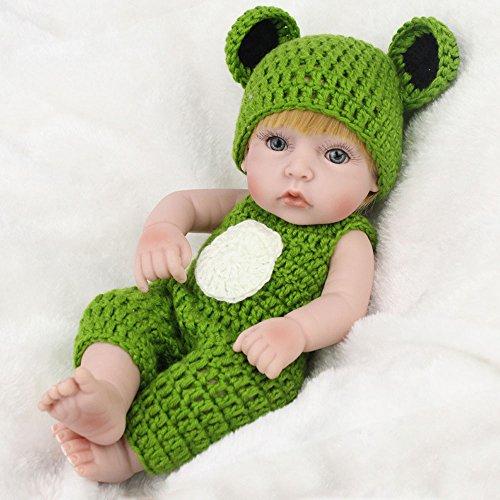 ドール かわいい ぬいぐるみ 男の子 カエル服 シリコン モデル 赤ちゃん 人形...