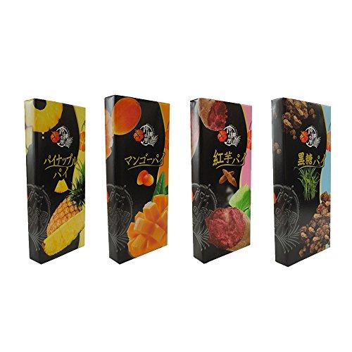 フルーツパイ 黒糖 紅芋 マンゴ パイン(小) 10枚入×8箱 南風堂 パイ生地を何層にも折り込み、甘くて人気の果物マンゴー味に焼き上げました