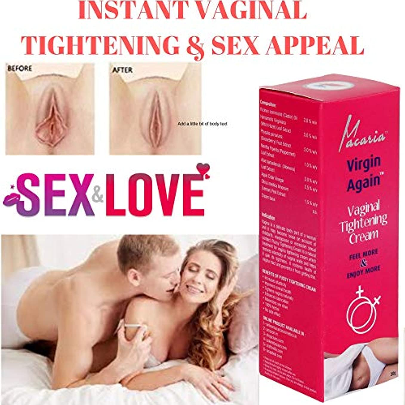 仲人割り込み頬骨INSTANT VAGINA TIGHTENING CREAM