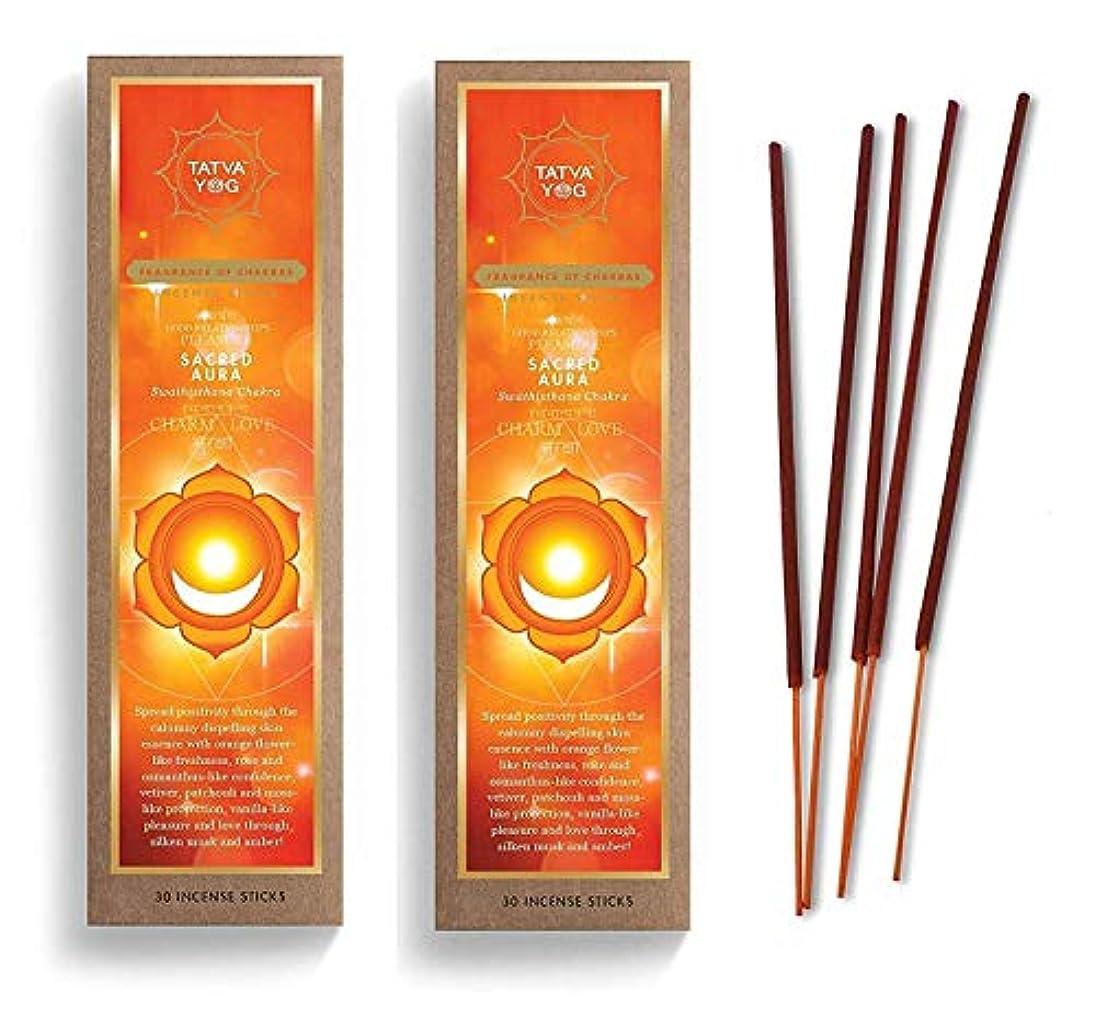 溶岩封建クルーSacred Aura Long Lasting Incense Sticks for Daily Pooja|Festive|Home|Scented Natural Agarbatti for Positive Energy|Good Health & Wealth (Pack of 2 | 30 Sticks Per Pack)